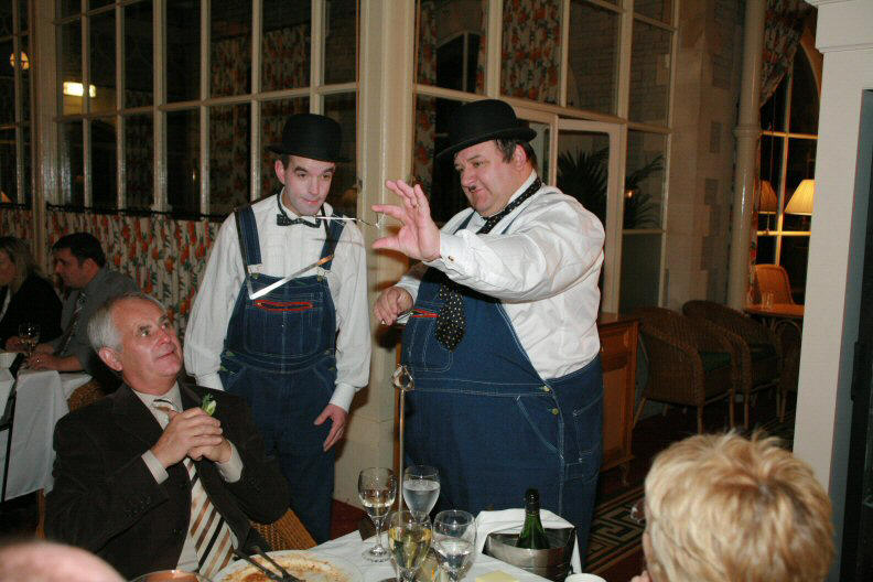 Laurel and Hardy, lookalike magicians for any event