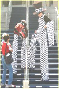 Racing Strips for that motor event stiltwalkers