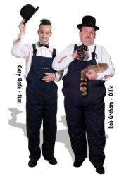 Laurel and Hardy, excellent lookalike magicians