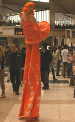 Tangerina,the orange stiltwalker