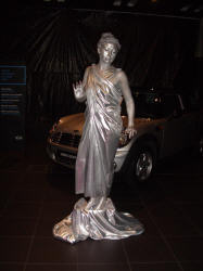 Human Statues - Silver Lady