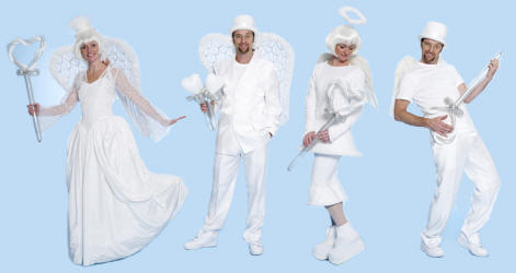 A collection od Christmas angels.