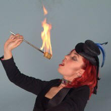 Female fire eater