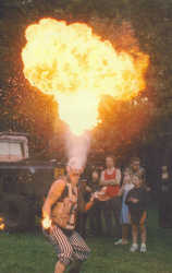 A brilliant bit of fire breathing