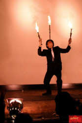 Gangster Cabaret, fire juggling and balancing