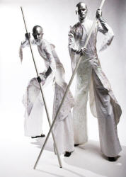 Stylish stiltwalkers