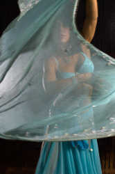Belly dancer veil dance