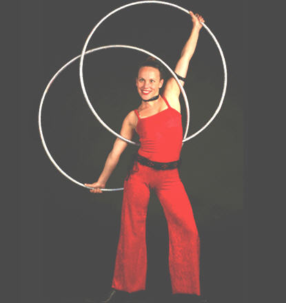 Angie, hula hoop artist for corporate events