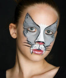 Face painted cat