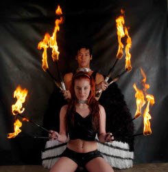 Fire Performing Duo