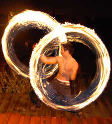 Fire poi performer